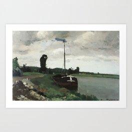 Camille Pissarro - Riverside at Pontoise Art Print