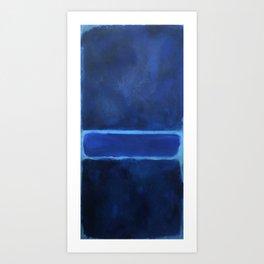 Mark Rothko Interpretation Blue On Blue Art Print
