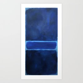 Mark Rothko Interpretation Blue On Blue Art Print