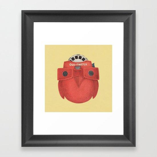 Owl-Master Framed Art Print