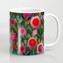 Bright Blooms Hand-Print Floral - Dark Coffee Mug