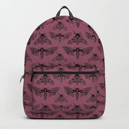 Purple Deaths Head Hawk Moth Pointillism Backpack