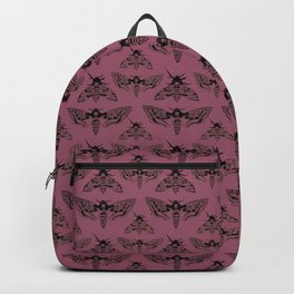Purple Deaths Head Hawk Moth Pointillism Backpack