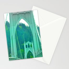 St. Johns Bridge Portland Oregon Stationery Cards
