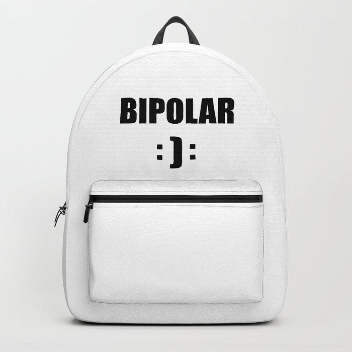 bipolar mental health design quote Backpack