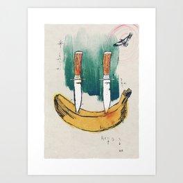 Happy Banana Art Print
