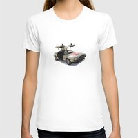 delorean T-shirts featuring Number 3 - DeLorean by Vin Zzep