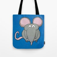 mouse Tote Bags featuring Mouse by Rafael Martinez