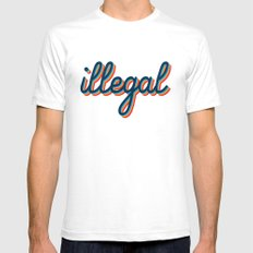 Illegal - pink version White SMALL Mens Fitted Tee
