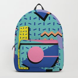 Memphis Pattern 14 - 80s Retro Backpack