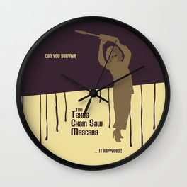 Can You Survive The Texas Chain Saw Mascara Wall Clock