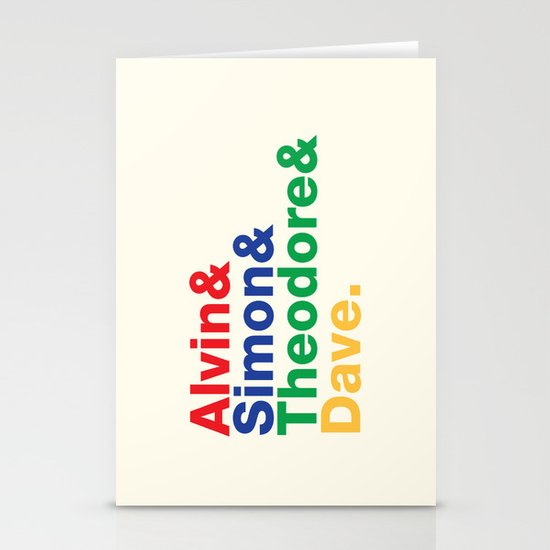 ALVIN&SIMON&THEODORE&DAVE. Stationery Cards