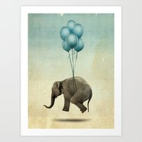dumbo Art Prints featuring Dumbo by Vin Zzep