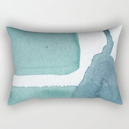 Blue Vibrance Abstract Painting Rectangular Pillow