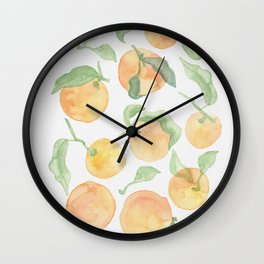 Lovely oranges Wall Clock