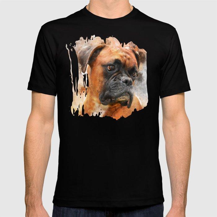Boxer Dog Thinking T Shirt Von Creativeaxle Society6