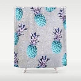 Pine-apple Bleu Shower Curtain