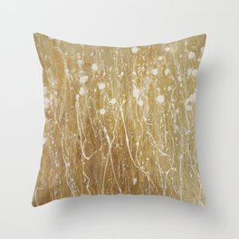 gold spring Throw Pillow
