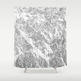 Call of the Mountains Shower Curtain