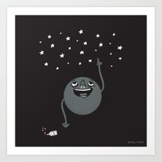 Planet Seeing Stars Art Print