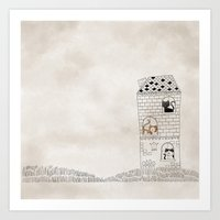 Cats in the Palace. It is our home sweet home. Art Print