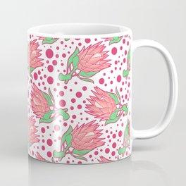 Soft Pink Australian Native Floral Print - King Protea Coffee Mug