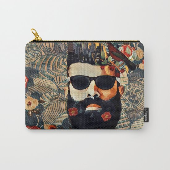 Beard and glasses Carry-All Pouch