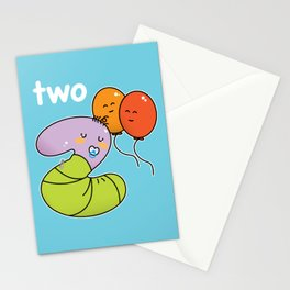 Number 2 birthday Stationery Cards