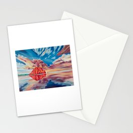 Morro Rock Reflection Stationery Cards