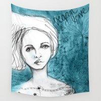 vegan Wall Tapestries featuring Vegan Love by ChristyAnne