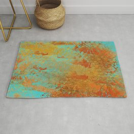Turquoise and Copper-Red Rug
