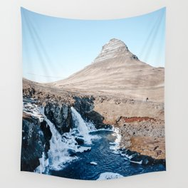 Waterfall in Iceland Wall Tapestry