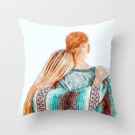 You Are My Sun, My Moon & All My Stars #painting #illustration Throw Pillow
