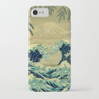 mountain iPhone & iPod Cases featuring The Great Blue Embrace at Yama by Kijiermono