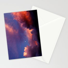 Moon in Sunset Clouds Stationery Cards