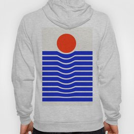 Going down-modern abstract Hoody
