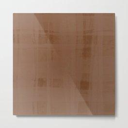Copper Organza Metal Print