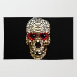 Skull Art - Day Of The Dead 3 Stone Rock'd Rug