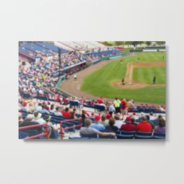 Baseball fans are on hand for Space Day at the Space Coast Stadium Metal Print