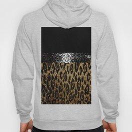 ANIMAL PRINT CHEETAH LEOPARD BLACK AND GOLDEN BROWN Hoody