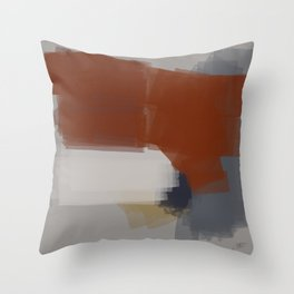 Chromed linear and traced art Throw Pillow
