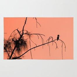 Kingfisher silhouette Rug