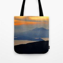 Oriental Sunset Drift Tote Bag