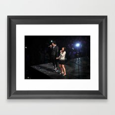 Glee Concert: Lea Michele and Chris Colfer Framed Art Print