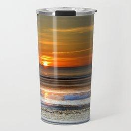 Silver and Gold Sunset Travel Mug