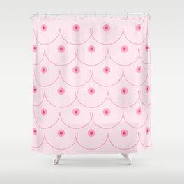 Pinky Nipple Shower Curtain