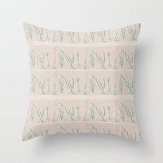 Plants in a Line Throw Pillow