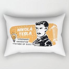 Nikola Tesla Retro Scientist Rectangular Pillow