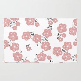 Hello spring Japanese cherry blossom love pink Rug