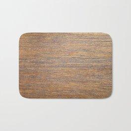 Rustic brown gold wood texture Bath Mat